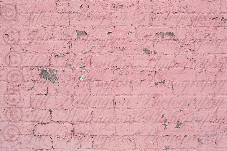 digital brick wall pink