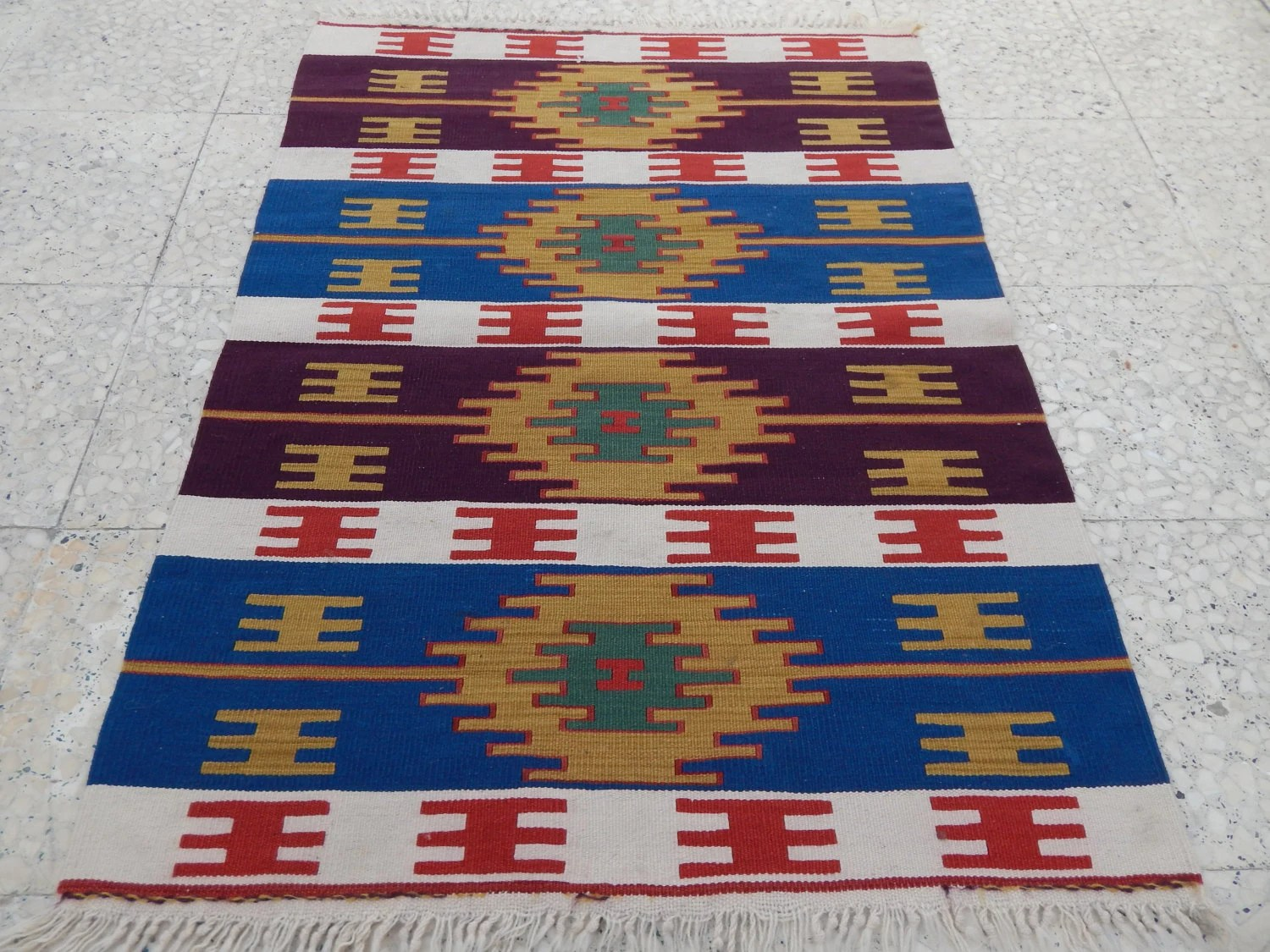Vintage Teppich Kelim Pastel Tapestry Kilim Rug Vintage Oriental Kelim Teppich Tapis Kilim Petite Small Turkish Textile Flat Weave Rug 2 9 X 3 8 85x112cm