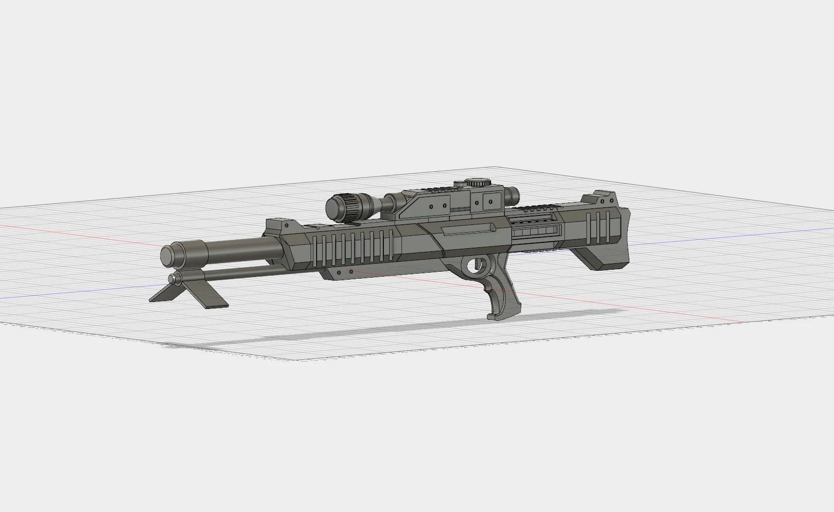 M98 Widow Maker sniper rifle 3D model 3D printable STL