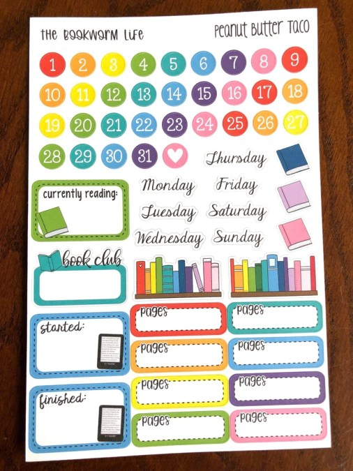 The Bookworm Life Sampler Planner Stickers  Reading Journal