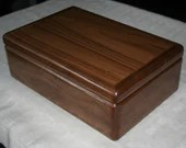 Wood Jewelry Box, 5th Anniversary Gift for Him, Wooden Jewelry Box, Jewelry Box Organizer, American Walnut Wood Box. 55W