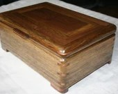 Wood Jewelry Box, Black Limba with American Walnut Jewelry Box, Keepsake box, Jewelry Storage box, 4BLW