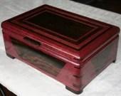 Exotic Purple Heart and Wenge Wood Jewelry Box, Wooden Jewelry Box, Keepsake Box, 5th Anniversary gift, Valet Box, Jewelry Storage Box. 5DP