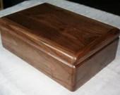 Wooden Jewelry Box, Handcrafted American Walnut Jewelry Box, 5th Anniversary Gift, Keepsake Box, Jewelry Box Organizer, 68W