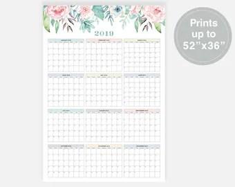2019 Calendar Simple Calendar 2019 Year Calendar 2019