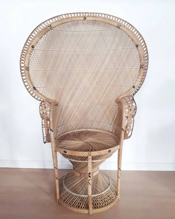 rattan peacock chair revolving manufacturer etsy