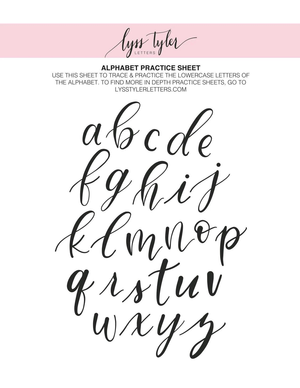 Alphabet Practice Sheets Lowercase Capitals Brush