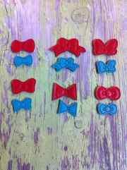 ith six mini hair bow digital embroidery