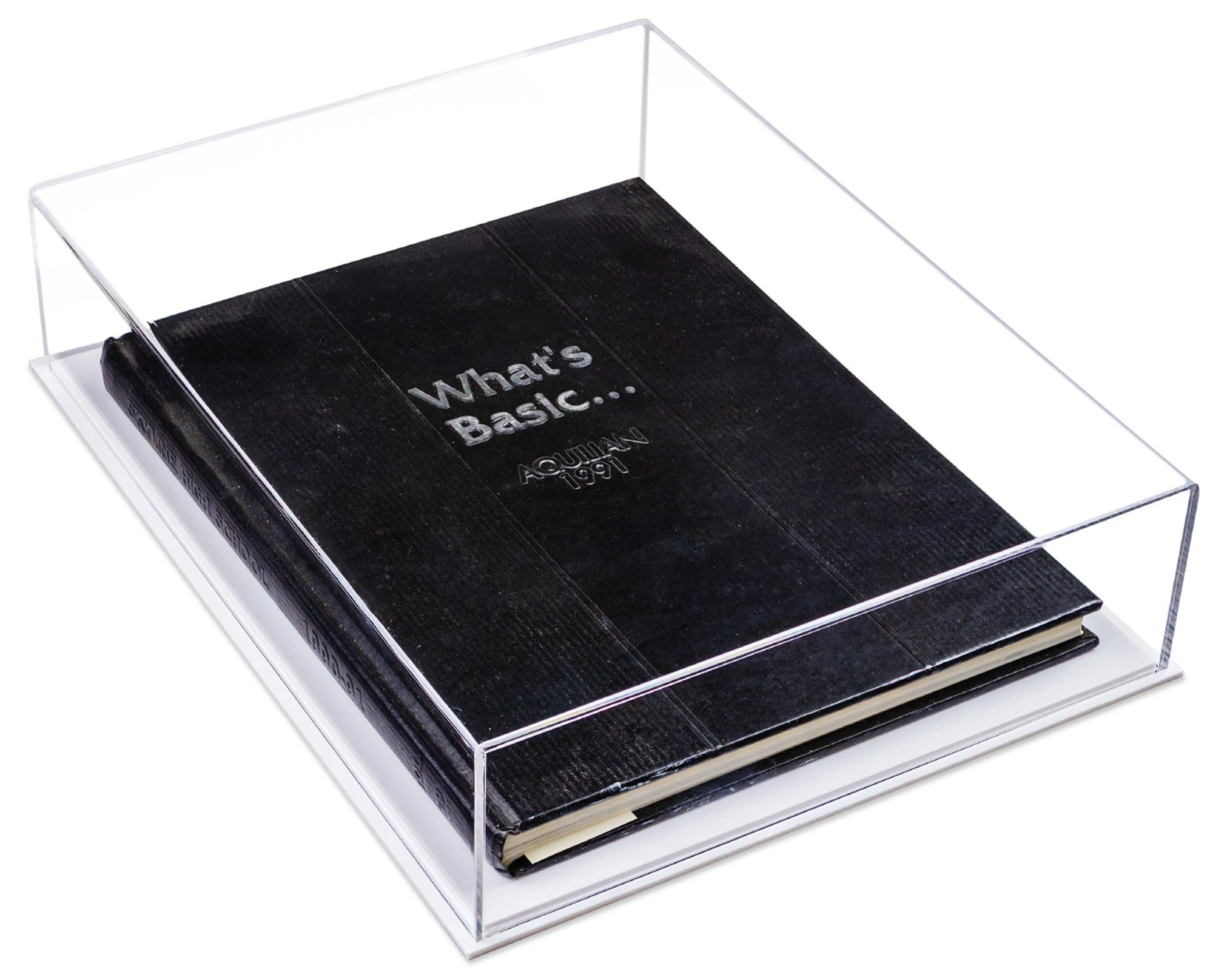 clear acrylic book display