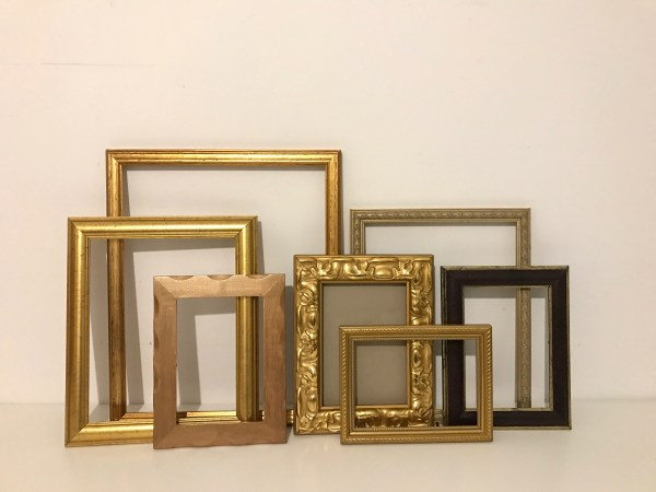 Vintage Ornate Gold Frames Collection Wall