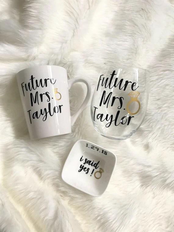 Personalised Engagement Gift Set