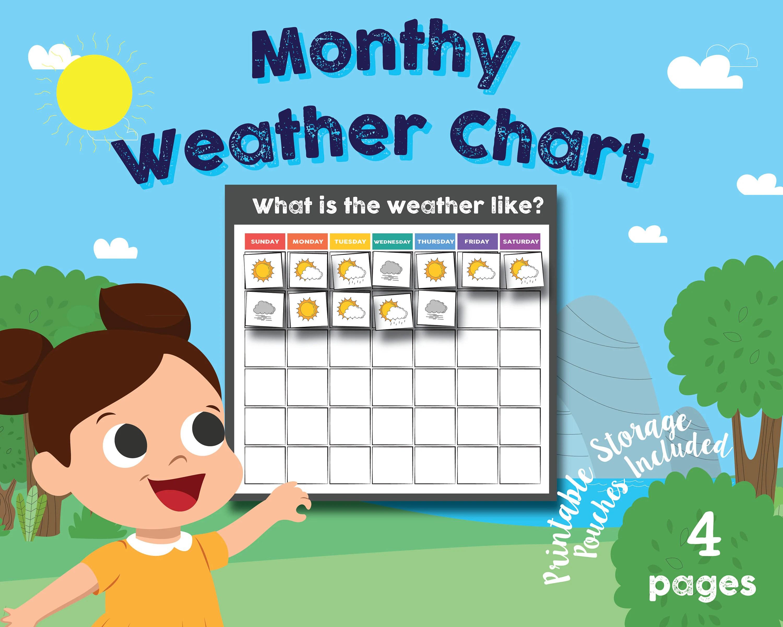 Preschool Kindergarten Daily Weather Chart Math Chart