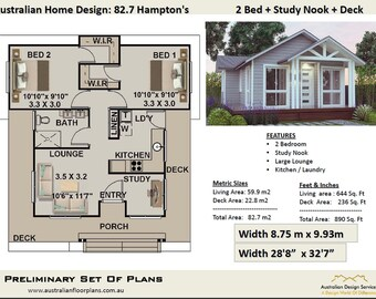 635 Sq Feet Or 59 8 M2 Hamptons Style 2 Bedroom Granny