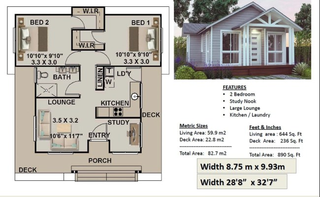 Small House Plan Australia 2 Bedroom Small Home Design Etsy