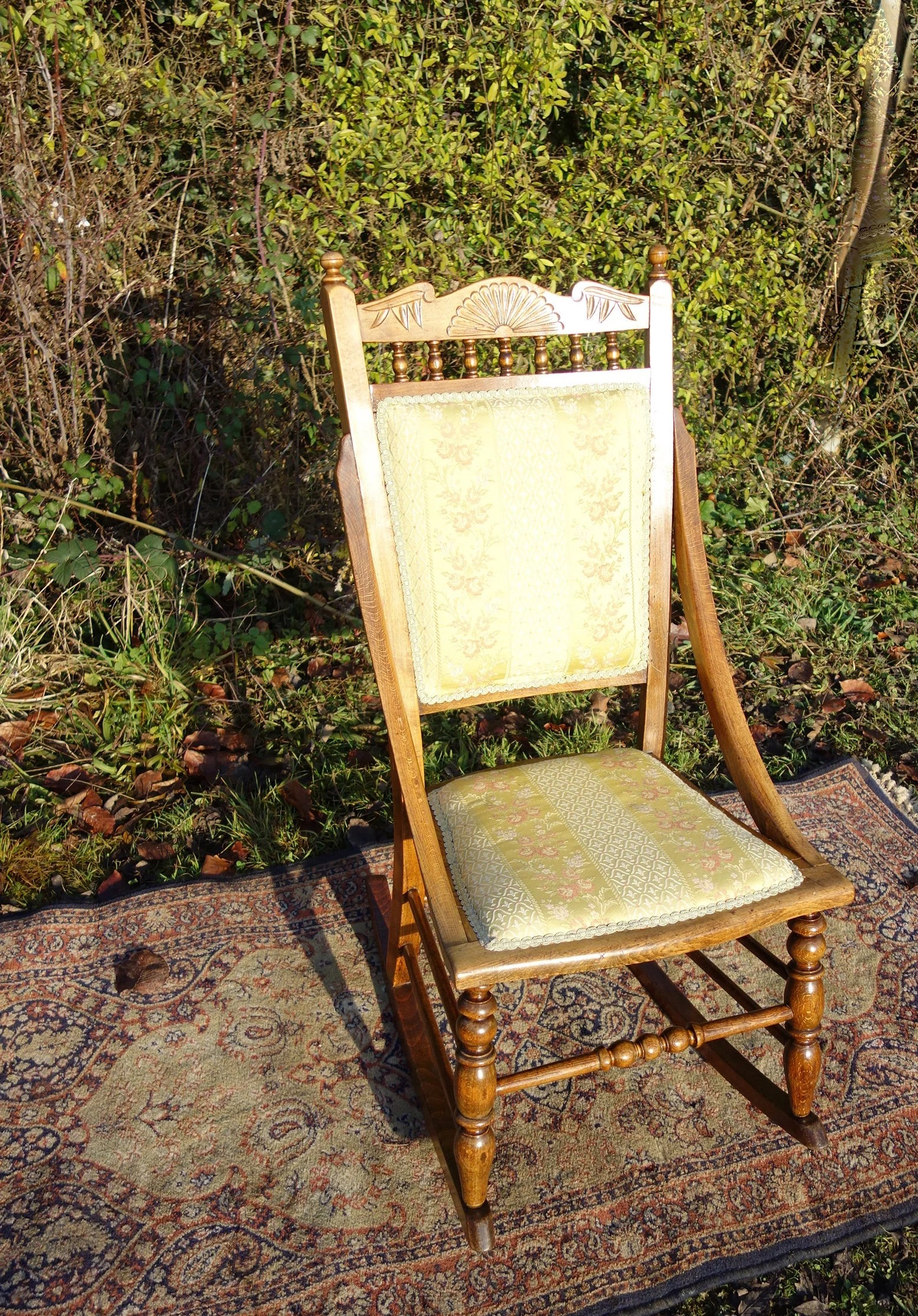 1920s rocking chair dillon 1 2 vintage 1920 s easy arts crafts etsy image 0