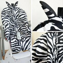 Zebra High Chair Baby Chairs For Toddlers Peg Perego Tatamia Pad Replacement Cover Etsy Black White Cotton