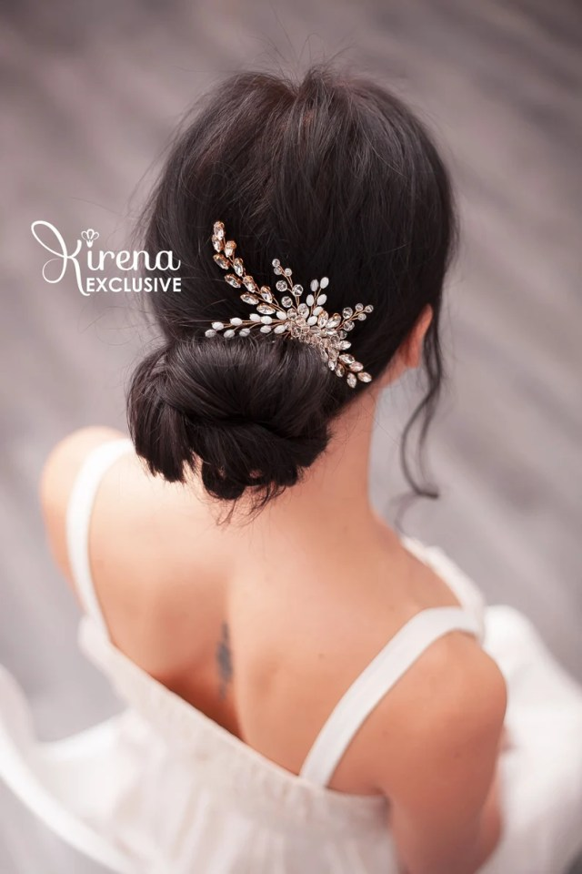 bride hair comb with pearls hair pieces for wedding gold bridal hair combs crystal hair vine headpiece bridal head pieces silver