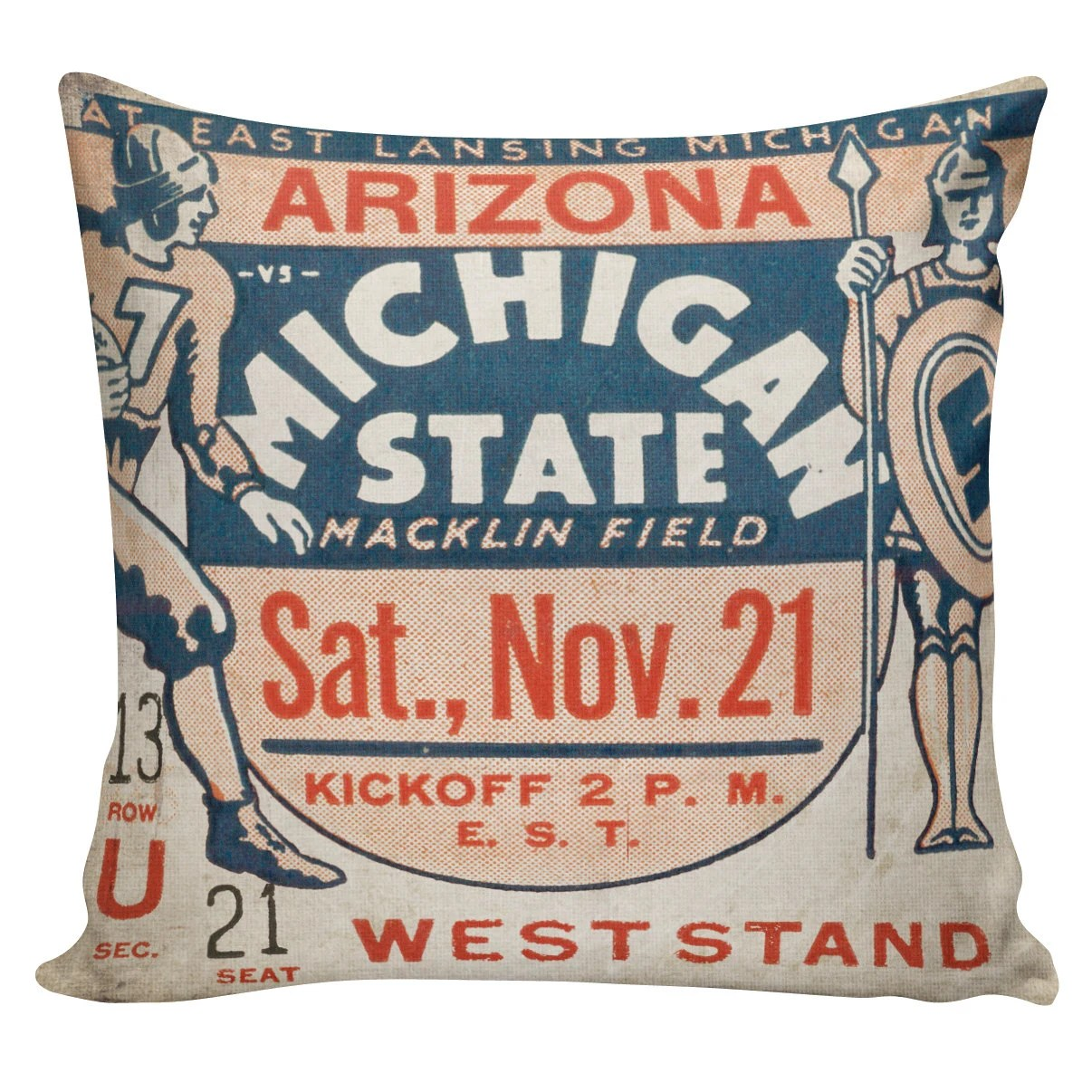 ticket stub pillow etsy