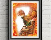Fire Phoenix ~ A4 Art Pri...