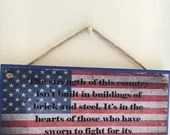 American flag with Captai...