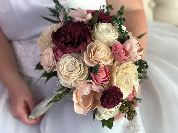 Divine Diva Bouquet Allure Collection Wood Flowers Sola