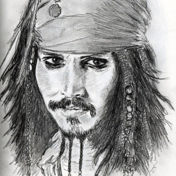 Drawings of Jack Sparrow Portrait
