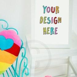 Rainbow Styled Photo Frame Mockup Lifestyle Frame Photo Etsy