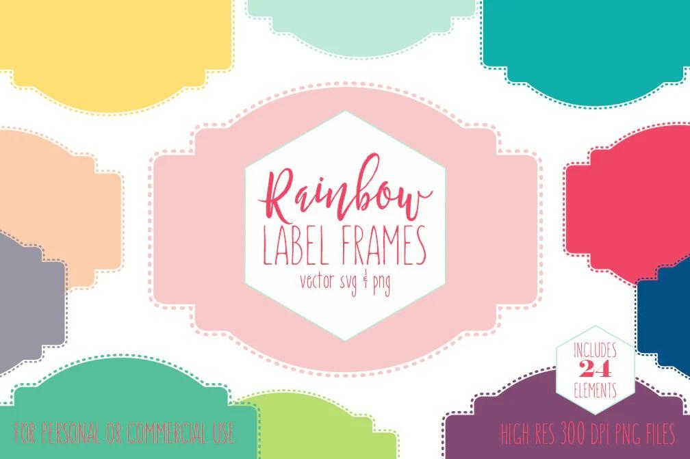 label frames clipart for