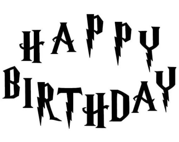 Harry Potter Happy Birthday Gift Book folding pattern Cut