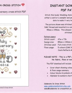 also pdf ruby wedding anniversary cross stitch chart download rh etsy