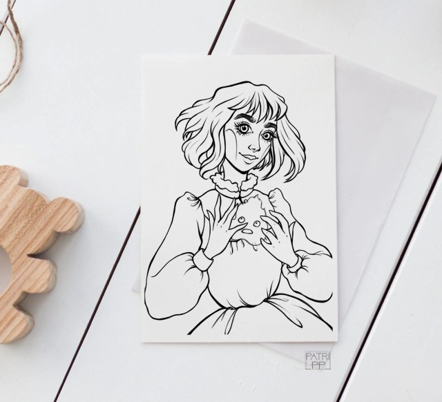 Sophie Hatter & calcifer coloring page inspired on Studio  Etsy