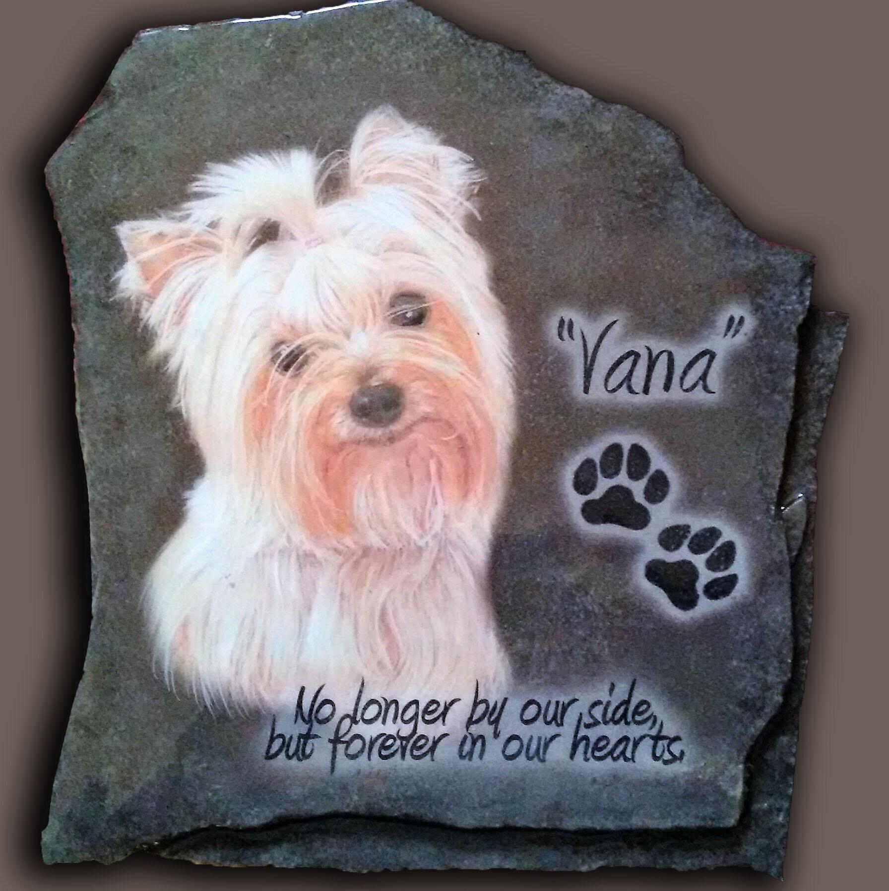 hand painted pet memorial