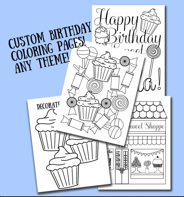 custom coloring pages # 19