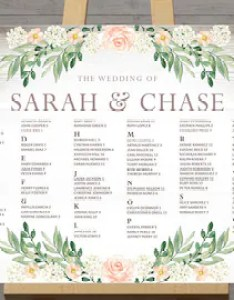 Rustic seating charts for weddings chart ideas poster wedding table printable floral board digital program add on also large guest assignment etsy rh
