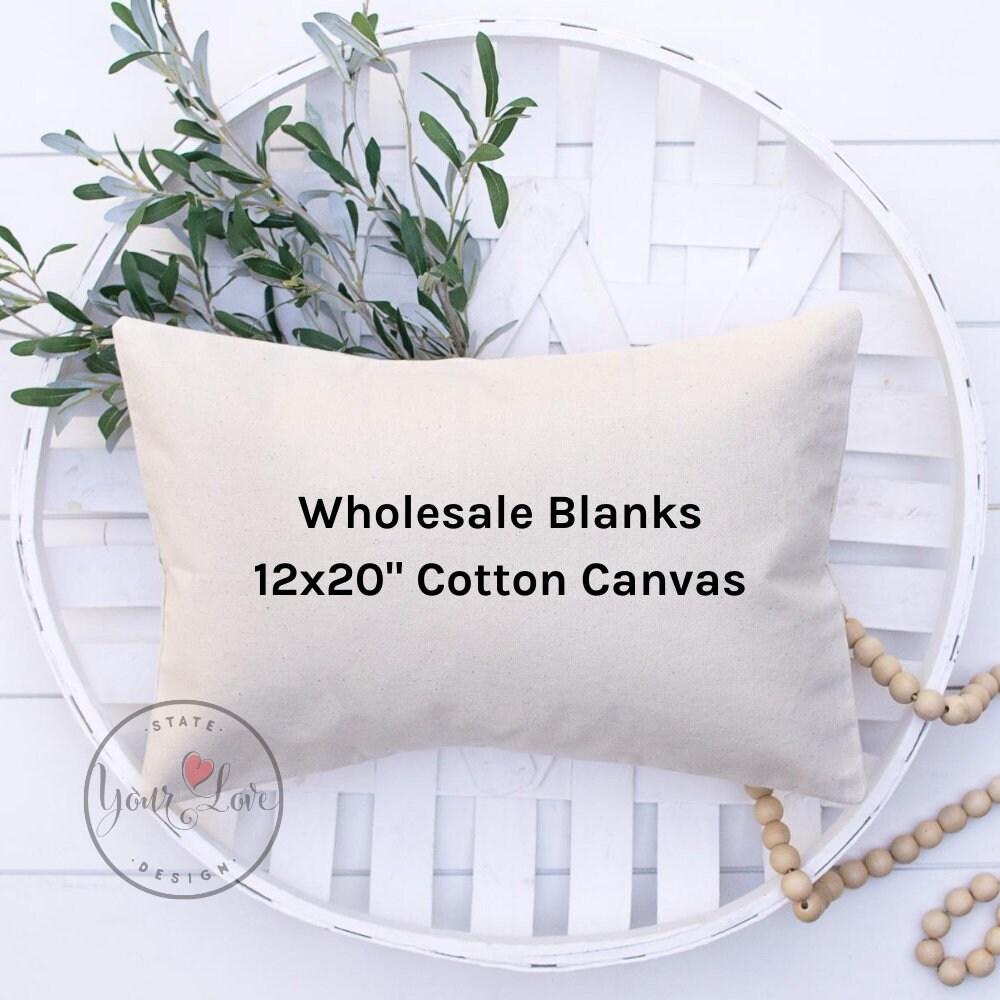 12x20 pillow cover blanks 10oz white