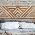 Reclaimed Wood Wall Art Queen Headboard Wood Wall Decor Geometric Triangle Pattern 60 X 18 Wood Headboard Wood Wall Art Rustic Art