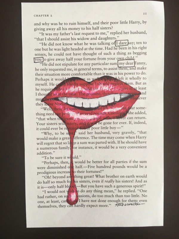Blackout Poetry Art Artwork Book Word