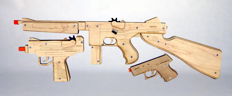 Auto Rubber Band Gun