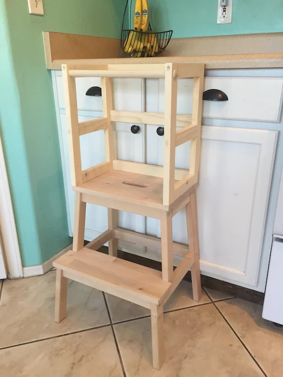 kitchen step warehouse montessori helper stool toddler tower wood etsy image 0