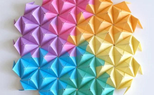 Colourful Wall Art Paper Art Modular Origami Wall Decor Etsy
