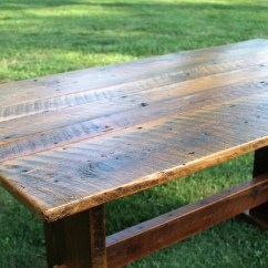 Rustic Kitchen Tables Vinyl Table Etsy Dining Wood Farmhouse Trestle