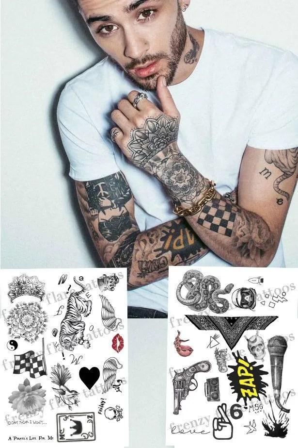 Zayn Malik Había Inspirado 2017 De Tatuajes Temporales Etsy