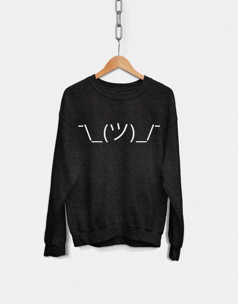 shruggie emoticon sweatshirt hipster