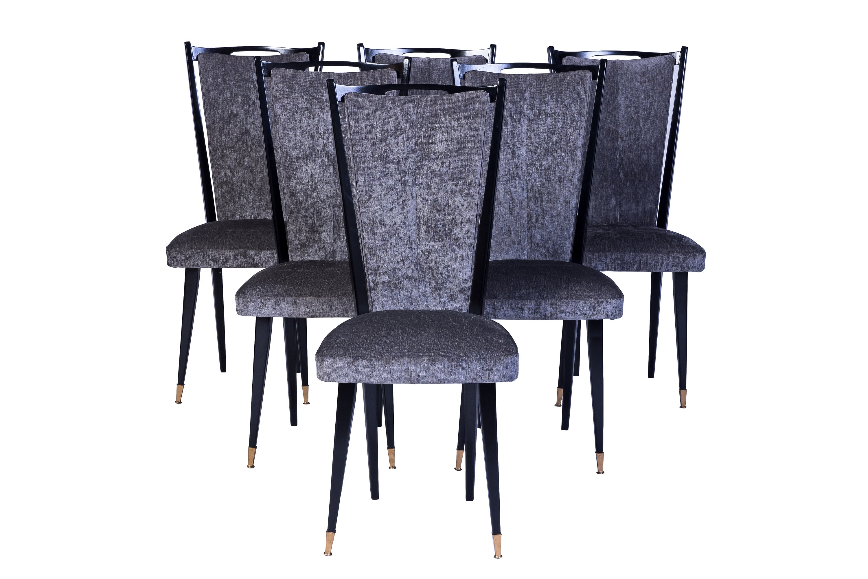 Art Deco Dining Chairs Stylish Set Of 6 Art Deco Dining Chairs