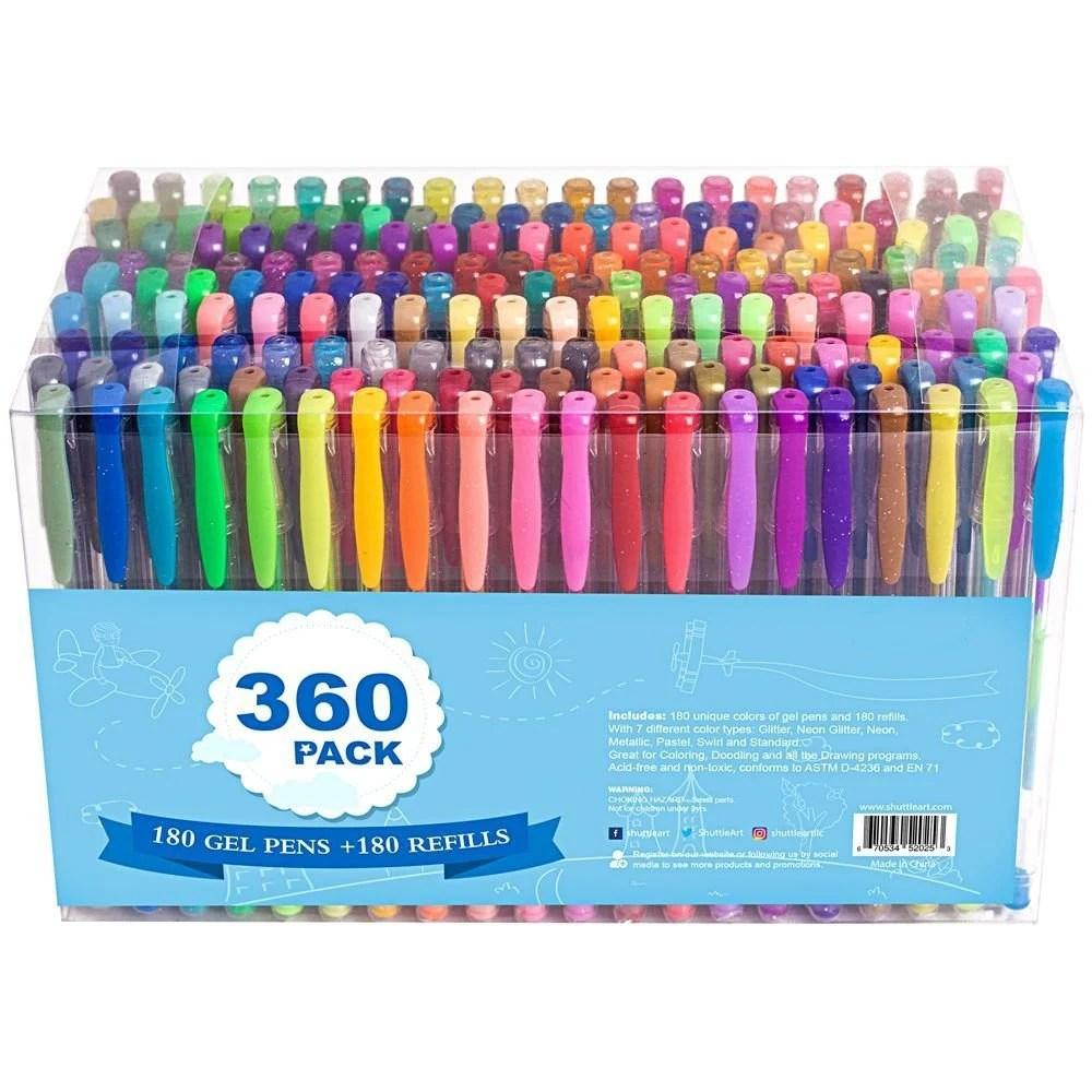 360 coloring gel pens