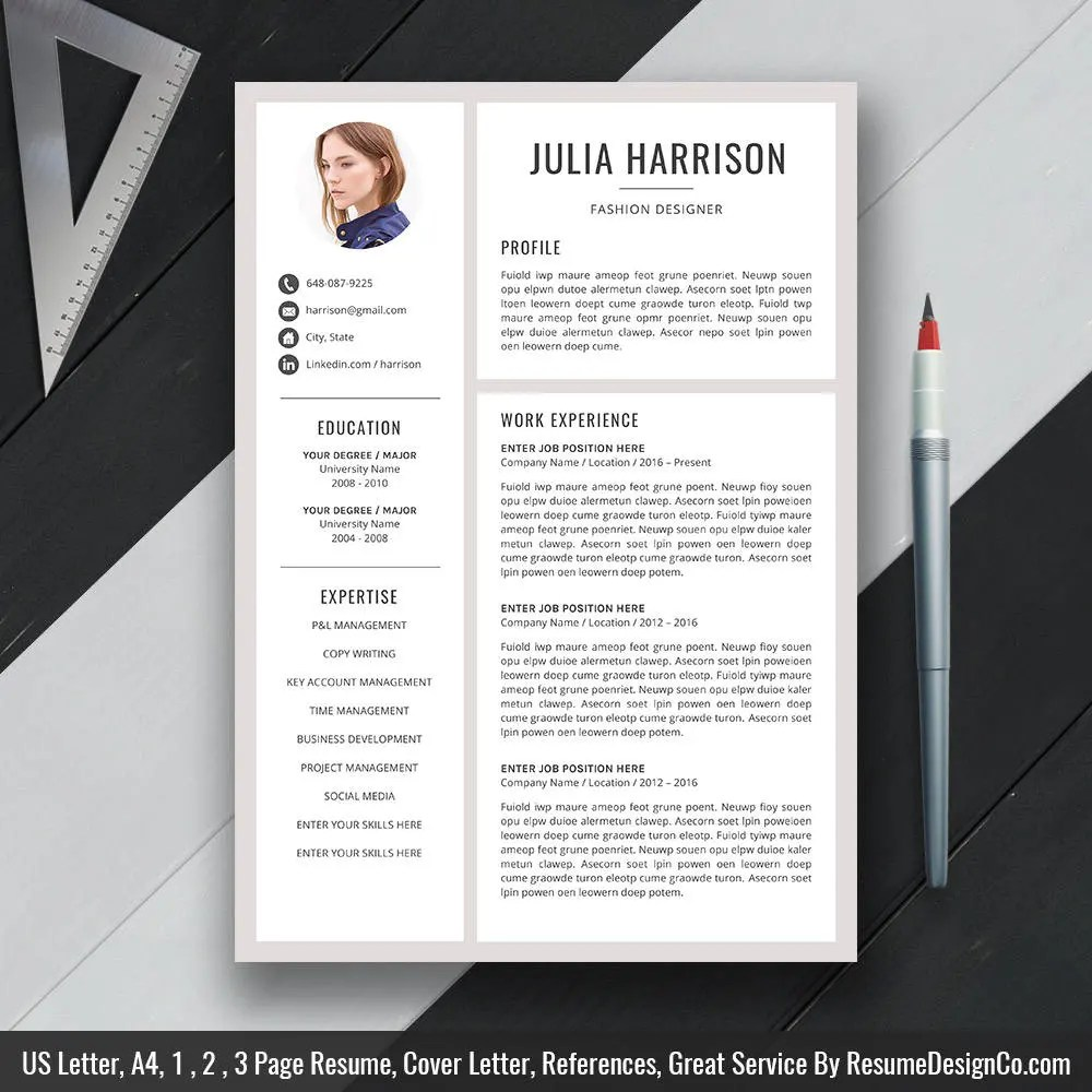 Modern Resume Template Download Modern Resume Template Resume Design Cover Letter Office Word Cv Template Professional Resume Creative Reume Template Download Julia