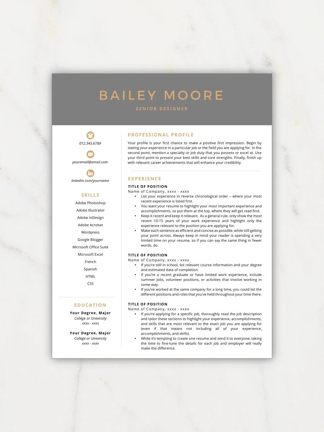 How To Make A Resume On A Mac Resume Template Modern Resume Resume Template Instant Download Resumes Cover Letter References Mac Pc