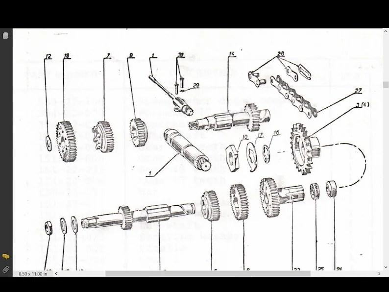 JAWA 250 590 CALIFORNIA III Motorcycle Parts Manuals with