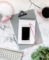 Pink Grey Iphone Mockup Styled Stock Photo To Display Etsy