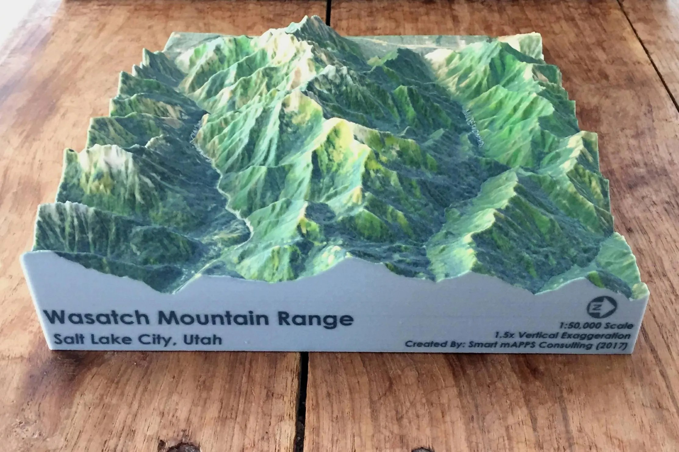 Wasatch Range Utah 3d Printed Topographic Map 3d Topo Map